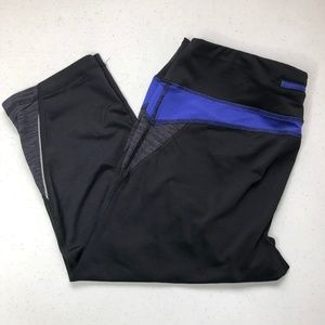 Tek Gear Workout Capris Black, Grey, Blurple L